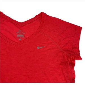 NIKE DRI-FIT pink burn out shirt